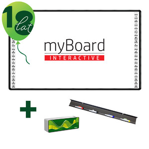 "Jubileuszowa Tablica interaktywna myBoard BLACK 90"" Ceramic PANORAMA"